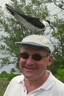 Stewart with Sooty Tern. Photo by Chris Feare